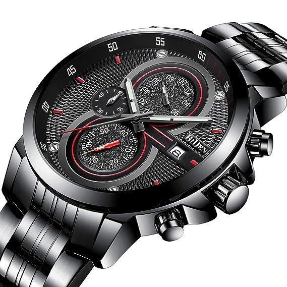 Para hombre relojes, elegante estilo de negocios Casual Deportes reloj de pulsera con calendario multifuncional