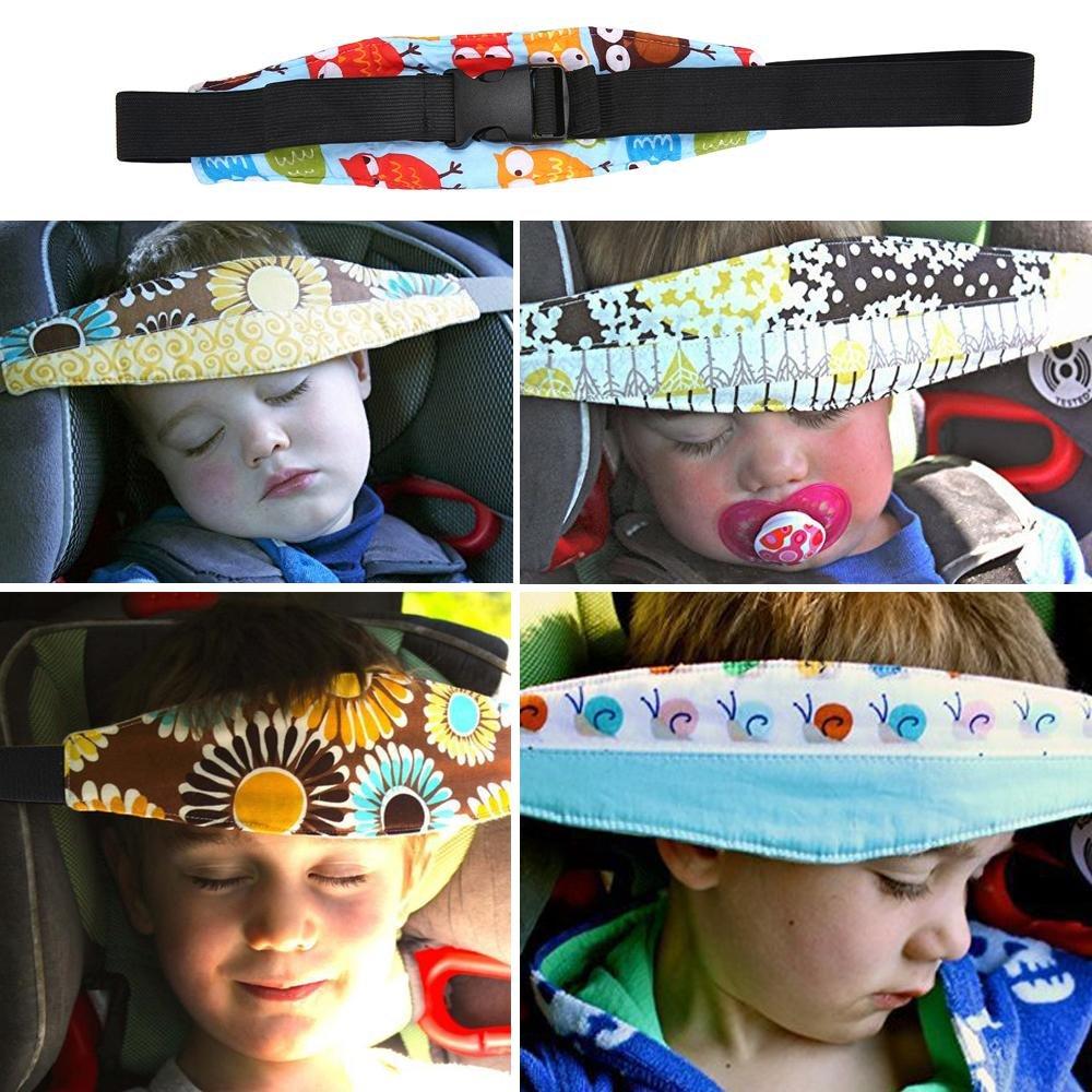 Soporte infantil para cabeza de la marca niceEshop para la silla del coche Light Gray Stars