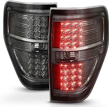 Ford 09-14 F150 Black Smoked LED Rear Tail Lights Brake Lamp Set Left /& Right