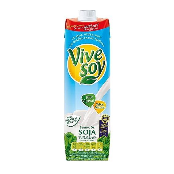 Vivesoy Bebida De Soja Sabor Natural - Pack de 4 x 1000 ml - Total: 4000 ml: Amazon.es: Alimentación y bebidas