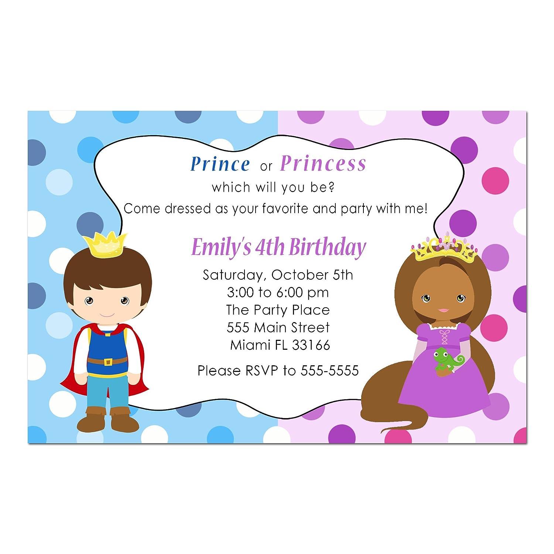 Amazon.com: 30 Invitations Prince Princess African American Girl Boy ...