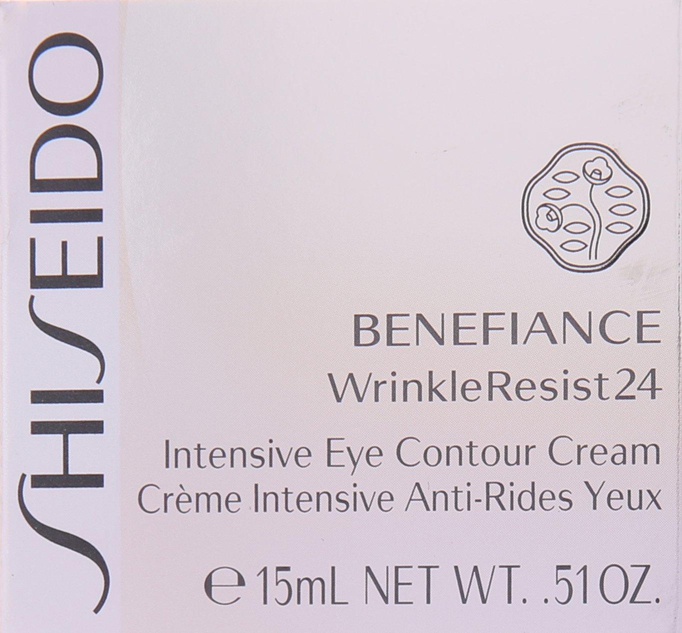 Shiseido Benefiance Wrinkle Resist24 Intensive Eye Contour Cream for Unisex, 0.51 Ounce
