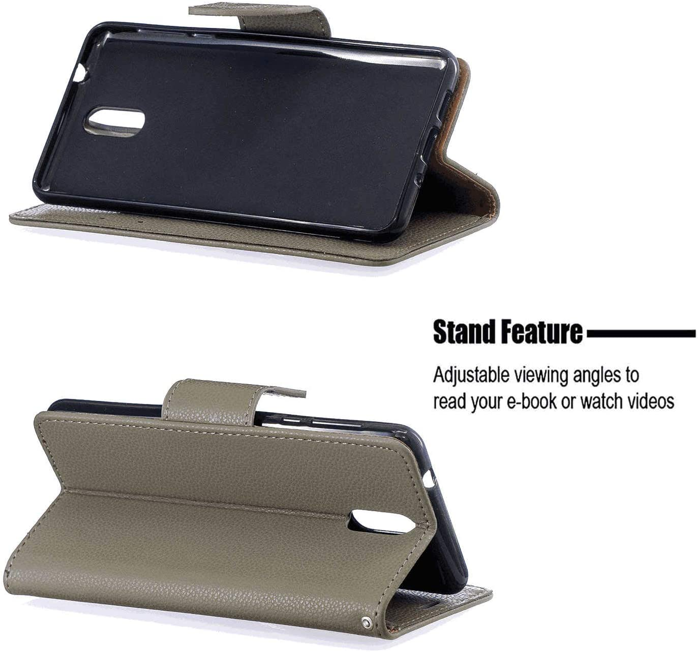 Cover for Leather Premium Business Mobile Phone Cover Card Holders Kickstand Flip Cover iPhone Xs Flip Case