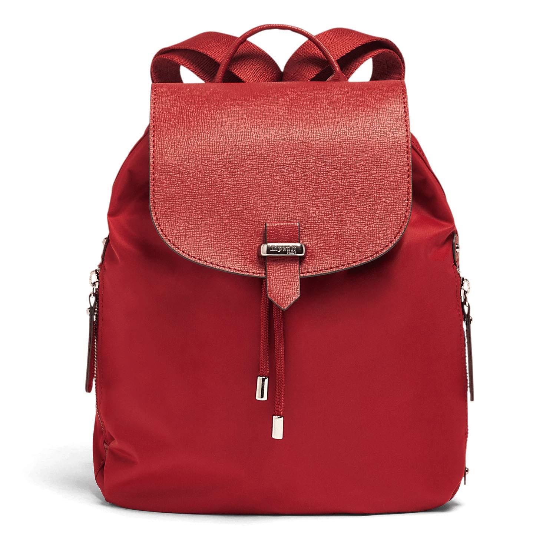 Lipault - Plume Avenue Backpack - 15'' Laptop Over Shoulder Purse Bag for Women - Garnet Red by Lipault