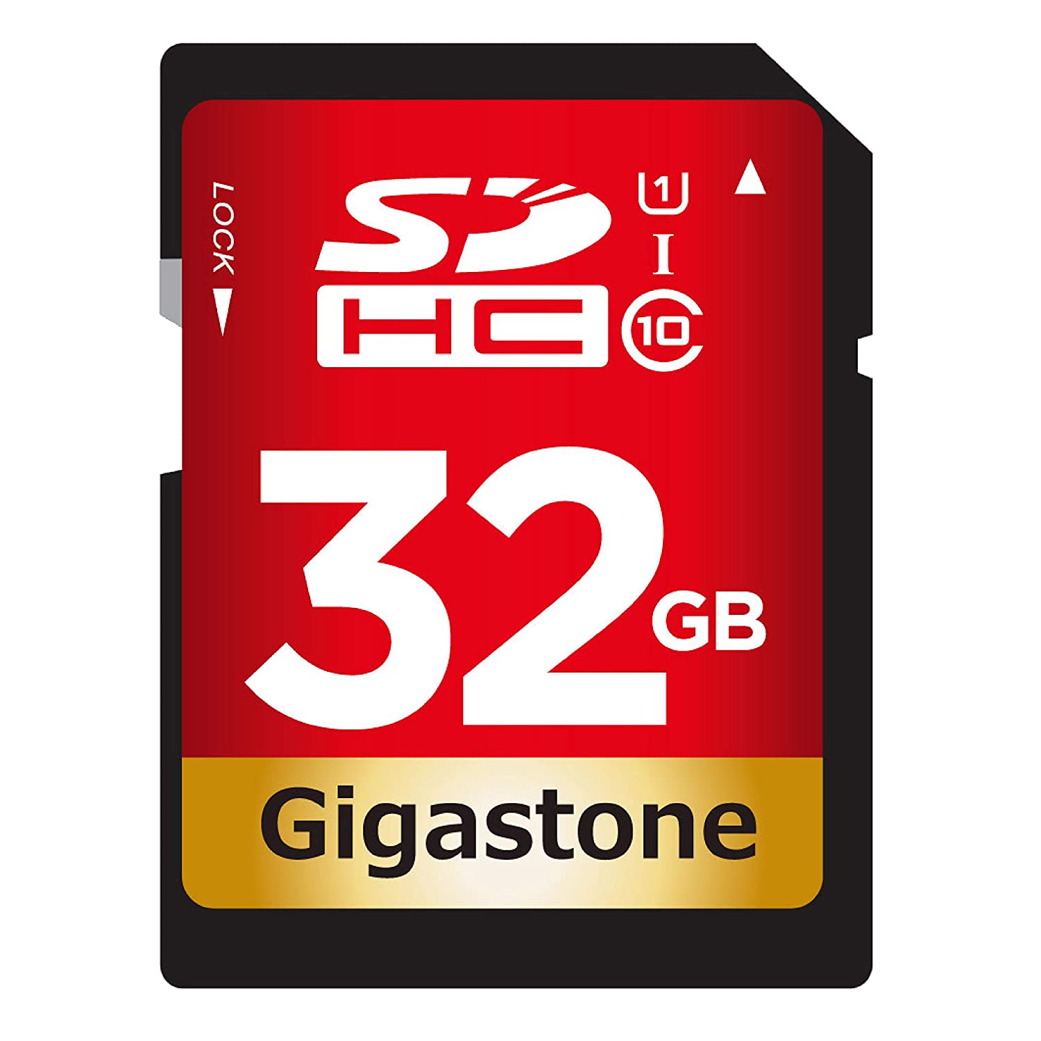 Gigastone PY9-00002 32GB Class 10 UHS-1 U1 Prime SD HC Memory Card Up to 45MB/s [Compatible with Canon EOS Rebel T5 T5i T6 T6i 80D 6D SL1 Nikon D3300 D5500 D5600 D7200 D750 Sony Pentax Kodak Olympus Panasonic] DANE ELECTRONICS GS-SDHCU132G-R