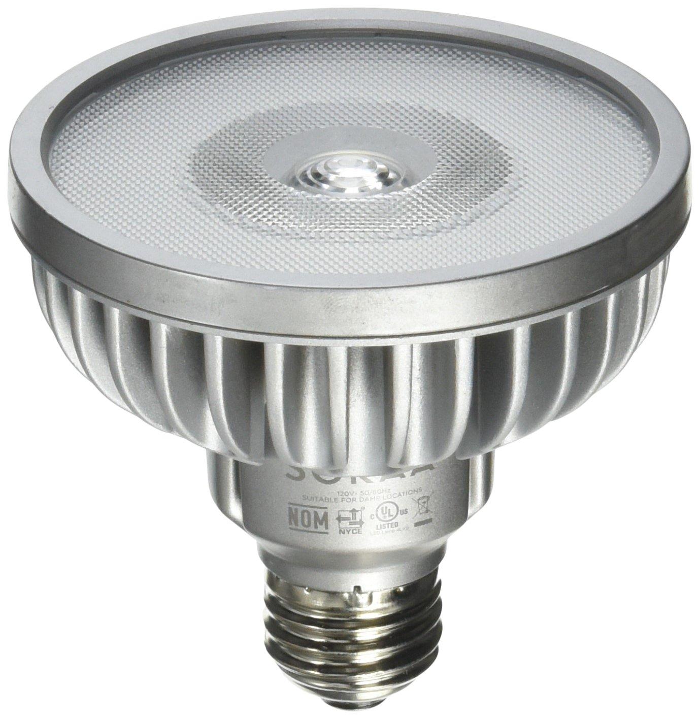 Bulbrite SP30S-18-36D-930-03 SORAA 18.5W LED PAR30S 3000K Vivid 36° DIM, Silver