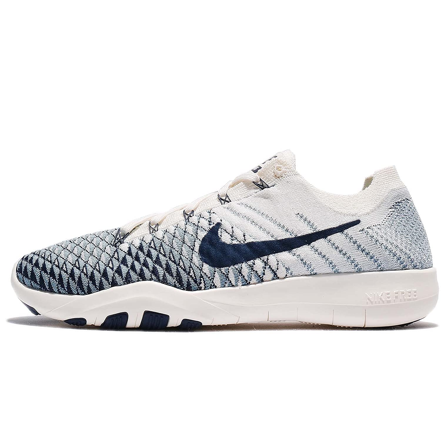 NIKE Free TR Flyknit 2 Womens Running Shoes B004U2FTR8 9.5 B(M) US|Sail/College Navy