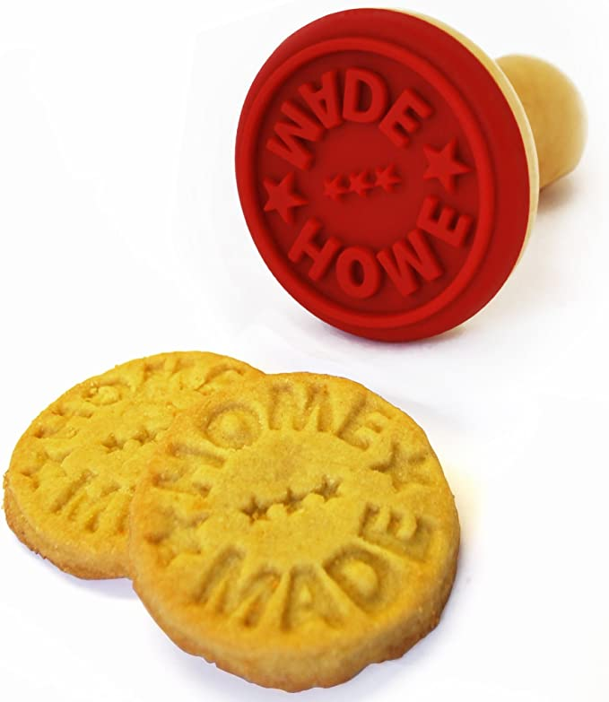 Biscuit stamp Homemade by name; 60 mm diameter;  Acrylic mounted on wood