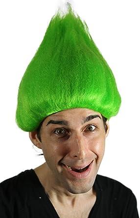 Amazon.com: Mi traje Pelucas Verde Troll peluca (Verde) una ...