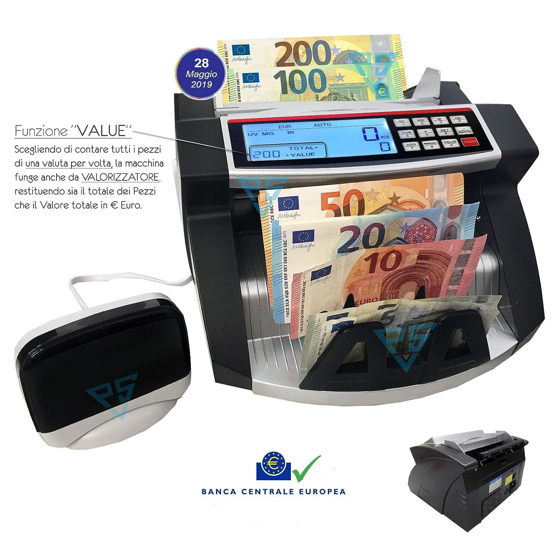 Conta banconote con rilevatore Professionale Verifica soldi falsi 100€ 200€ 2019 PVSSecurity di Silvia Misuraca