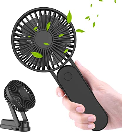 WOWGO Ventilador de Mano, Ventiladores USB Portátil con 3 ...