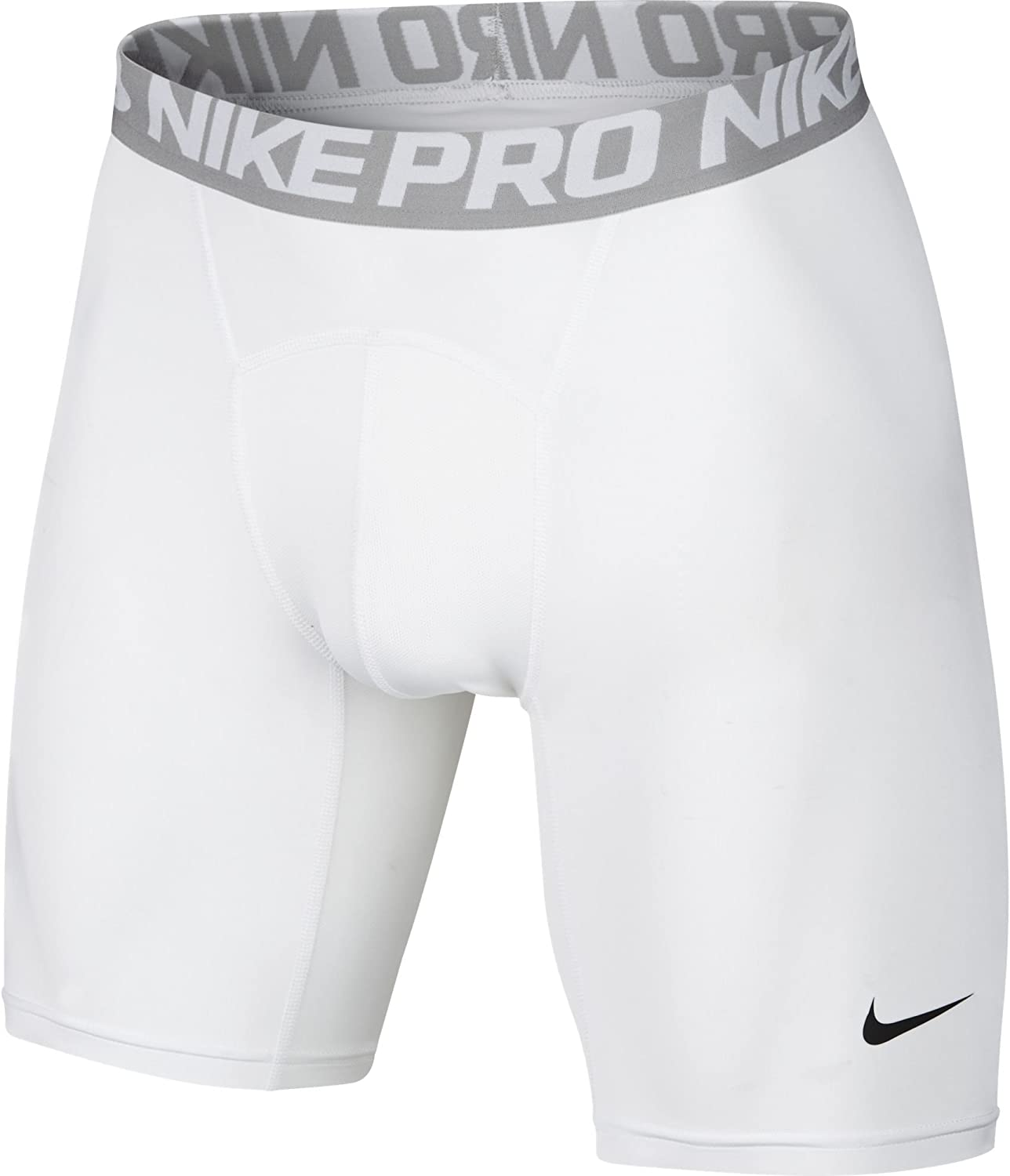 Nike Men's 6 Inch Cool Compression Shorts ,WhiteMatter SilverBlack ,L