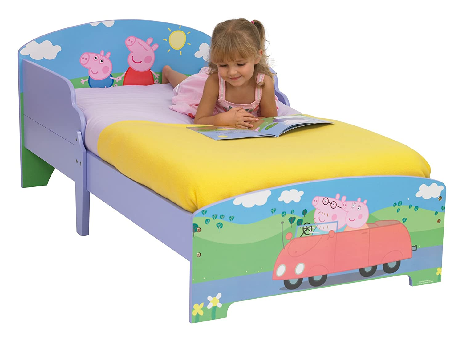 Peppa Pig Bedroom Peppa Pig Toddler Bed By Hellohome Amazoncouk Kitchen Home
