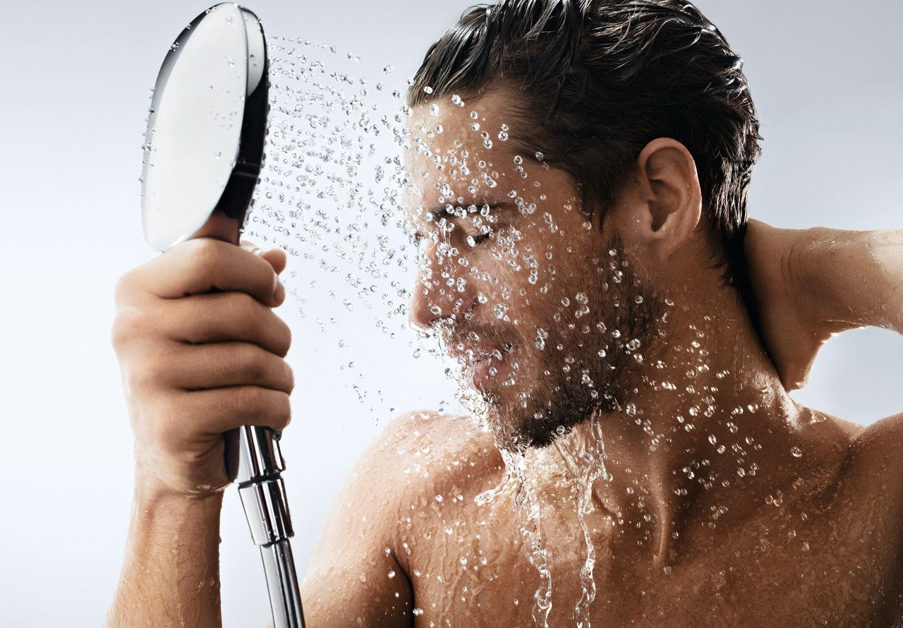 3 tipos de chorro Hansgrohe 26521400 Raindance Select E 120 ducha de mano blanco//cromo ahorro de agua