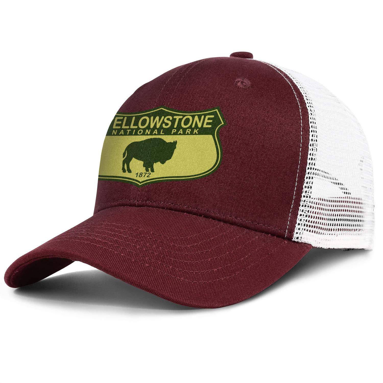 Cap Trendy Baseball Caps Hat Mans Womens Yellowstone-National-Park