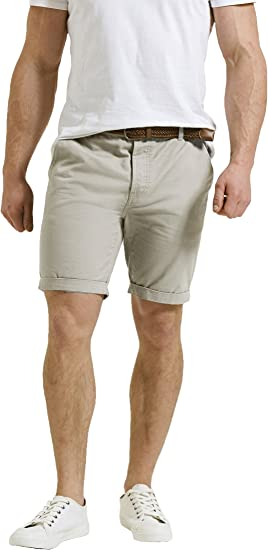 Mens Threadbare Summer Designer 100/% Cotton Raw Hem Chino Shorts