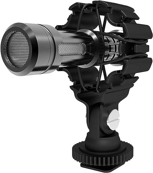 DREAMGRIP Soporte para micrófono de vídeo con suspensión antichoque para Rode, Sennheiser, MOVO y Otros micrófonos con Tubo de 0.4-1