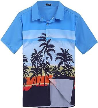 Coofandy - Camisas de manga corta para hombre, diseño de rectángulo: Amazon.es: Ropa y accesorios