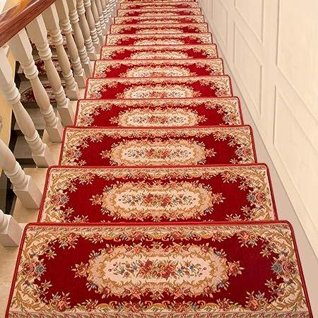 Inicio escaleras Alfombras Huella de peldaño de ratón del estilo del palacio de la alfombra Conjunto de escalera de alfombras antideslizantes en jacquard floral Mat Multi Estilo (30X85 cm (11.8X33.4 e: Amazon.es: