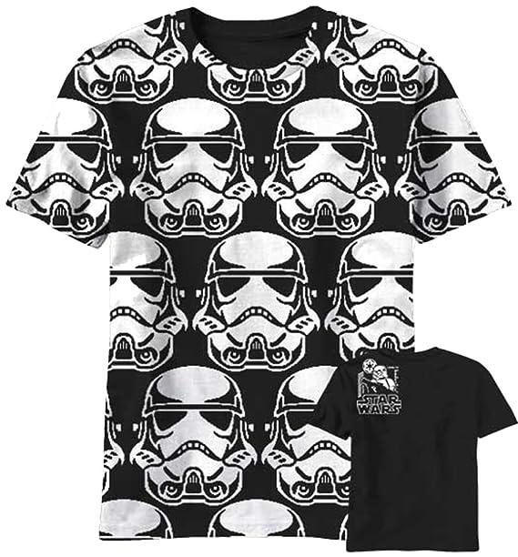 Amazon.com  Star Wars Trooper Pixels Mens Black T-Shirt  Clothing b65fecf2110f8