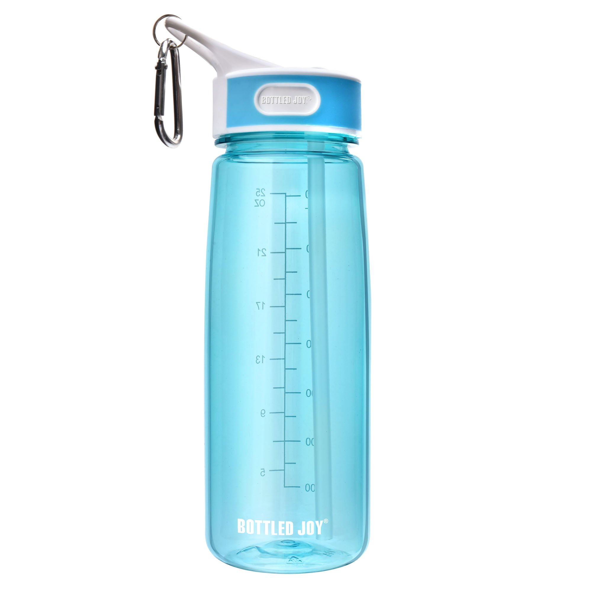 Water Bottle with Straw Leak Proof Drinking Bottle Tritan Material BPA-Free for Outdoor Sports Camping Hiking Cycling and More 28oz - Blue