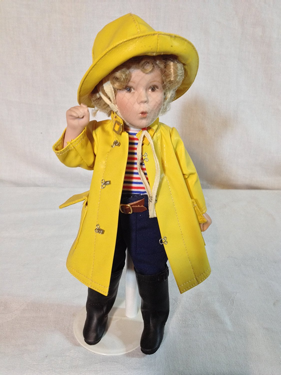 """""""Captain January"""" - Porcelain Doll From the Shirley Temple Movie Classics By Danbury Mint"""