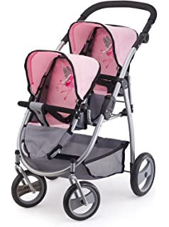 Bayer Design Cochecito de Gemelos, Buggy Color Gris, Rosa 26508AA