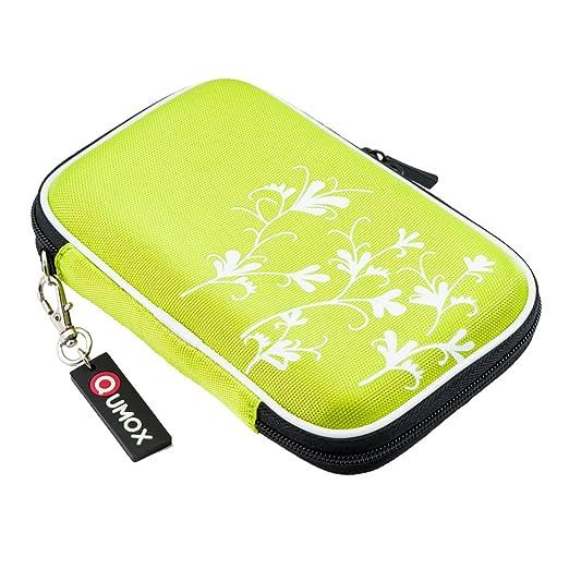 """1352 opinioni per QUMOX Verde (fiore) Custodia rigida da 2,5 """"HDD Borsa per il caso Portable Drive"""