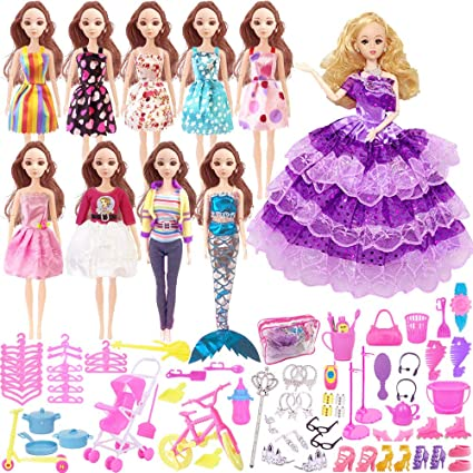 Barbie Fashionistas Clothing Party Dress Hot Pink Pack Fashion Outfits New