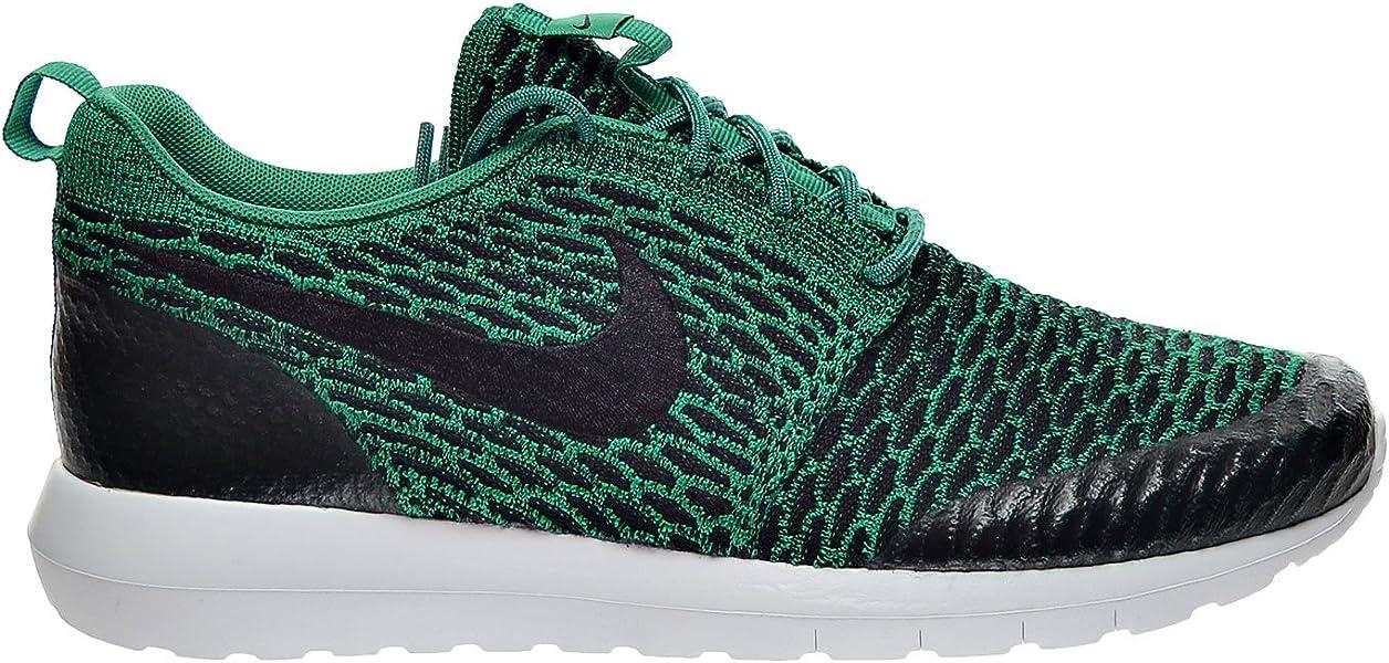 pretty nice 55f3a c79dd Nike Roshe NM Flyknit SE Men s Shoe Lucid Green Black White 816531-300