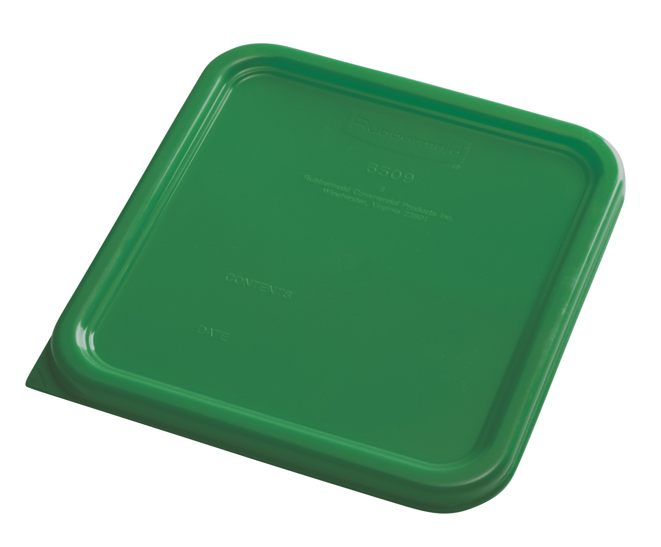 Rubbermaid Commercial Products 1980301 Rubbermaid Commercial Plastic Food Storage Container Lid, Square, Green, 4 and 8 Quart by Rubbermaid Commercial Products