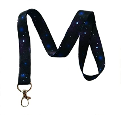 amazon com galaxy print lanyard key chain id badge holder thehighqueen