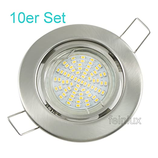 LED SMD para empotrar 10er set de instalación de puntos de ...