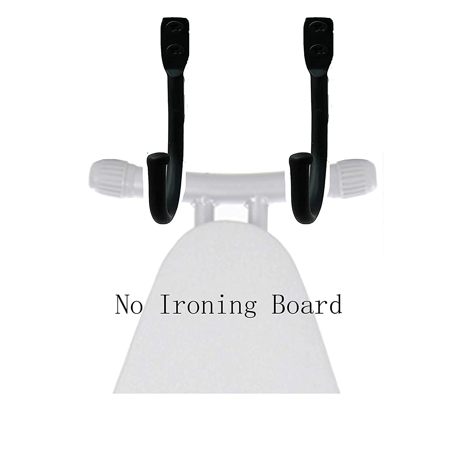 for Laundry Rooms Ironing Board Hanger No Ironing Board Wall Holder Wall Hanger Wall Mount Wall Rack Wall Mount Ironing Board Holder Closets 2-Pcs Utility Rooms