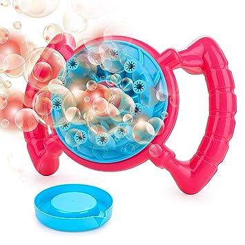 HellDoler Máquina de Burbujas,Máquina Sopladora de 700 Burbujas por Minuto Regalo para Niños y Niñas,No Incluye la Solución Bubble