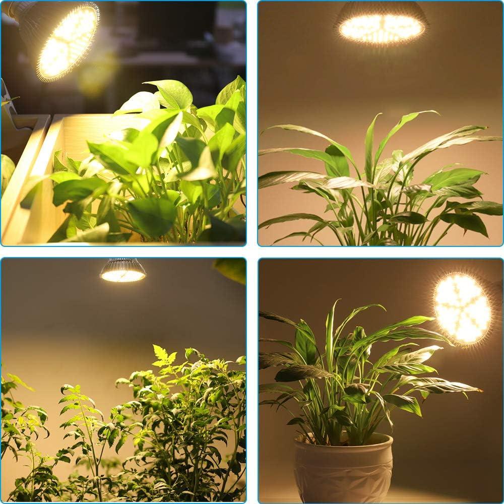 MILYN 100W LED Pflanzenlampe E27 150 LEDs Vollspektrum Pflanzenlicht LED Grow Light, Achstumslampe ähnlich dem Sonnenlichts für Garten Gewächshaus