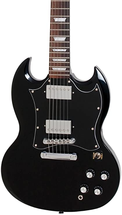 Amazon.com: Epiphone Limited Edition 1966 G-400 PRO Electric Guitar Ebony: Musical Instruments