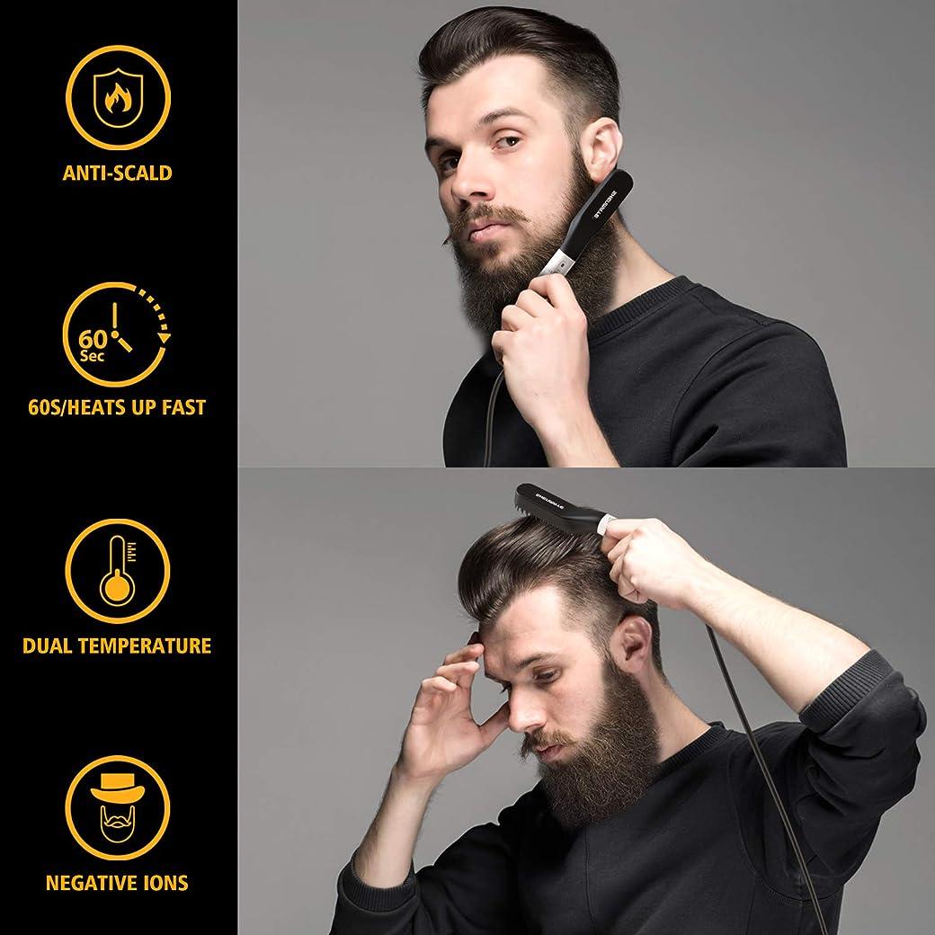 SHENMATE Cepillo Alisador de Barba Multifuncional HZS-020