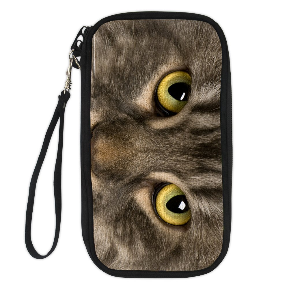 ArtistMixWay Simulation 3D Cat Print Multi-purpose Family Travel Passport Wallet