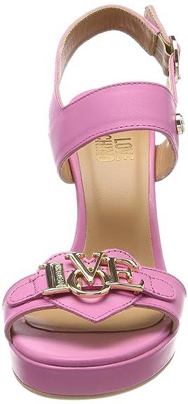 105 Donna Sandali San Love Cinturino Caviglia 40 pink lod Alla Moschino Con lb12 Eu Rosa Vitello qHBUEvB