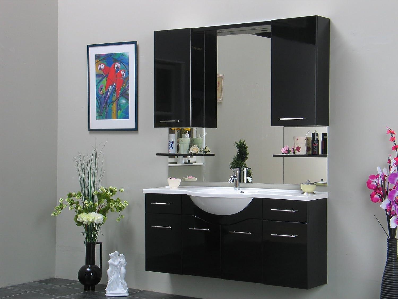 Großartig Badschrank Spiegel Galerie Von Badezimmer Möbel Set Apollo Bad Schrank Schwarz