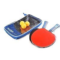 Motion-Partner, dos raquetas profesionales de tenis de mesa / dos paletas profesionales de ping-pong, mango cóncavo, incluye tres pelotas, MP239-B