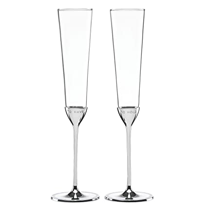 4d76869cef6 Amazon.com | kate spade new york Take the Cake Toasting Flute Pair: Champagne  Glasses
