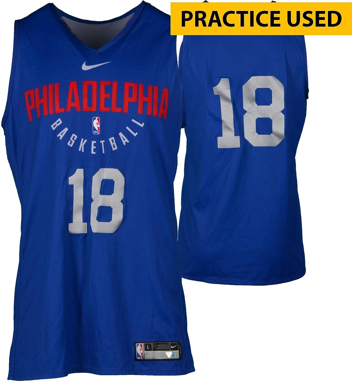 100% authentic f93b0 789dd Marco Belinelli Philadelphia 76ers Practice-Used #18 ...