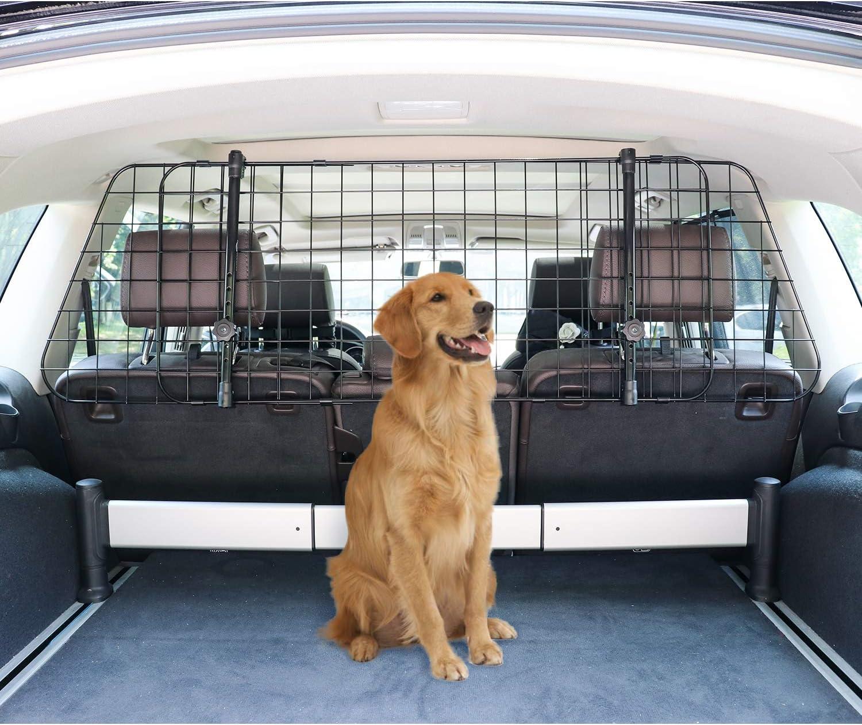 Basics Adjustable Dog Car Barrier - 16-Inch, Black: Automotive