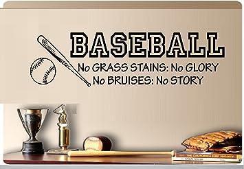 Amazoncom Baseball No Grass Stains No Glory No Bruises No Story - Vinyl vinyl wall decals baseball