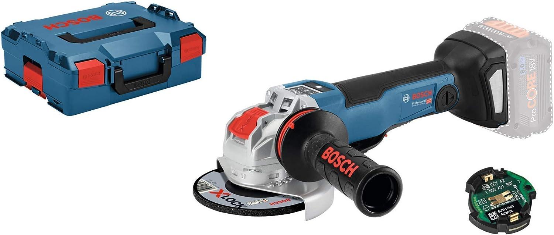 Bosch Professional GWX 18V-10 PSC Amoladora angular, X-LOCK, diámetro disco 125mm, hombre muerto, velocidad variable, módulo connectivity, sin batería, en L-BOXX, 18 V
