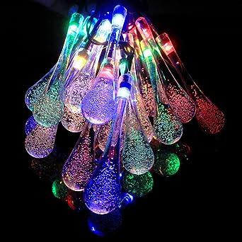 GRDE Resistente al agua Luces LED cristal bombillas LED, Lamparas solar, Decoración hogar para