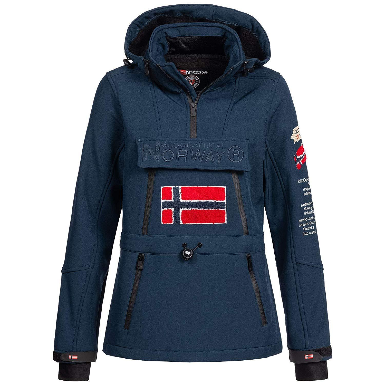 Ski Snowboard Veste pour lhiver//Automne dans Empaqueter avec UD Bonnet Fonctions Ext/érieur Pluie Veste Sport Geographical Norway Femme Softshell Veste