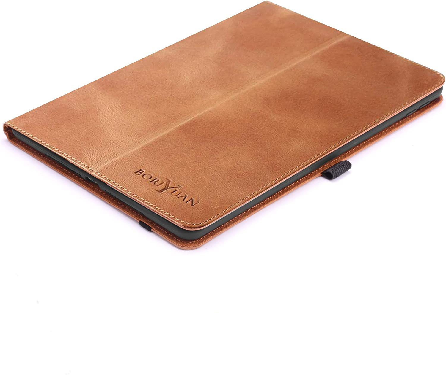 """Boriyuan Leather Case for New iPad 10.2 8th Gen2020/7th Gen 2019/iPad Air 3 10.5""""/iPad Pro 10.5 inch - Leather Smart Cover Protective Folio Flip Stand with Pencil Holder and Auto Sleep/Wake (Brown)"""